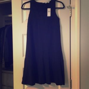 NEW navy Loft dress with embroidery